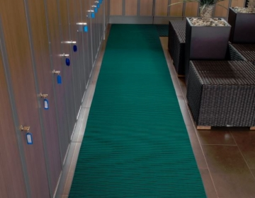 nerostep riietusruumi pehme põrandamatt rullis roheline
