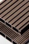 Puitplastkomposiidist (WPC) terrassilaud | õõnes laud | 4 meetrit | tumepruun (LAOTOODE) |5,50 €/jm